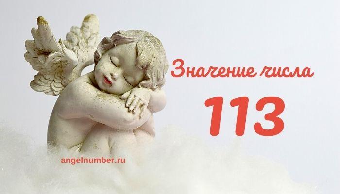 значение числа 113
