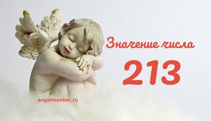 значение числа 213