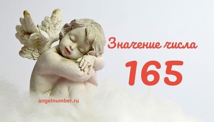 значение числа 165