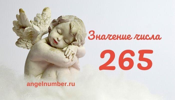 значение числа 265