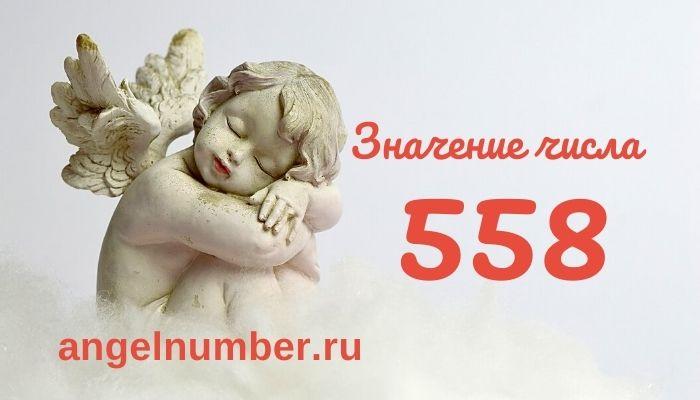 значение числа 558 ангельская нумерология