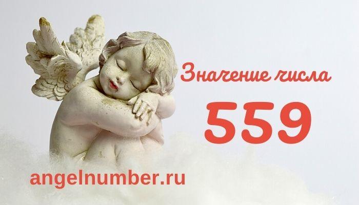 значение числа 559 ангельская нумерология