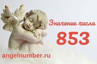значение числа 853 ангельская нумерология